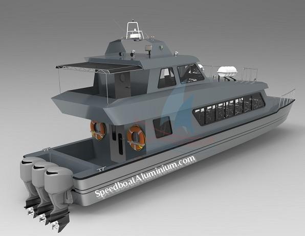 Jual Landing Craft Boat Aluminium